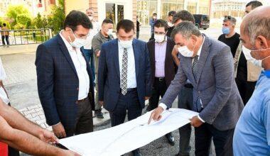 Başkan Gürkan Çiftlik Caddesinde Devam Eden Çalışmaları İnceledi